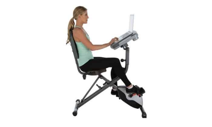 Photo of Exerpeutic Workfit 1000 Desk Station Folding Semi-recumbent Exercise Bike Review